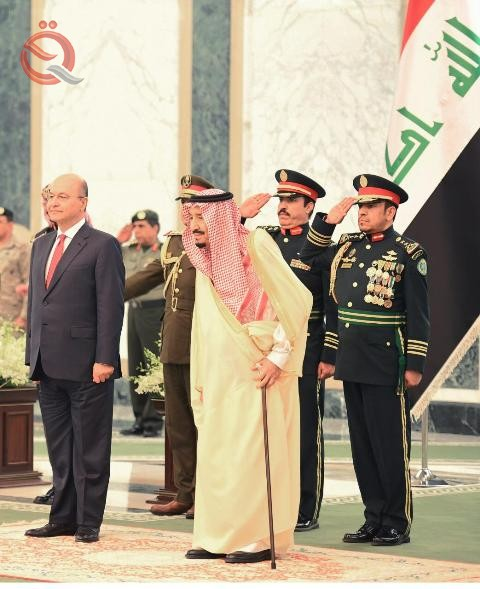 The Saudi monarch welcomed Barham Salih on his first visit to the kingdom 11288