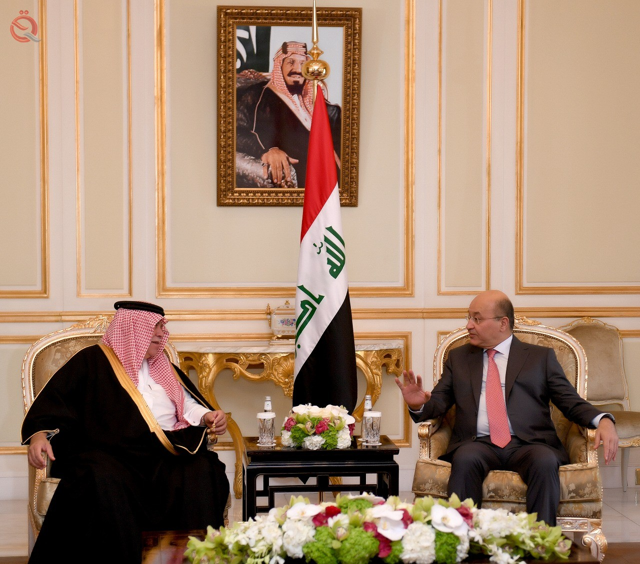 The Saudi monarch welcomed Barham Salih on his first visit to the kingdom 11290