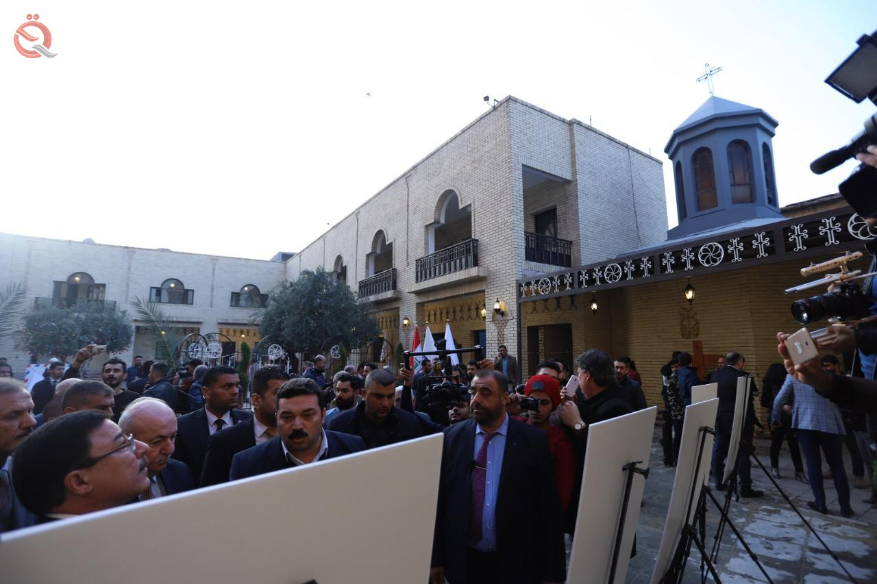 Central Bank and the Association of Iraqi private banks open the oldest churches in Baghdad after rehabilitation 12087