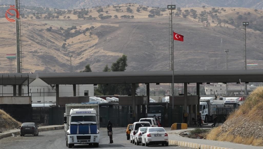 The location of the new Afaqai border crossing between Baghdad and Ankara 12319
