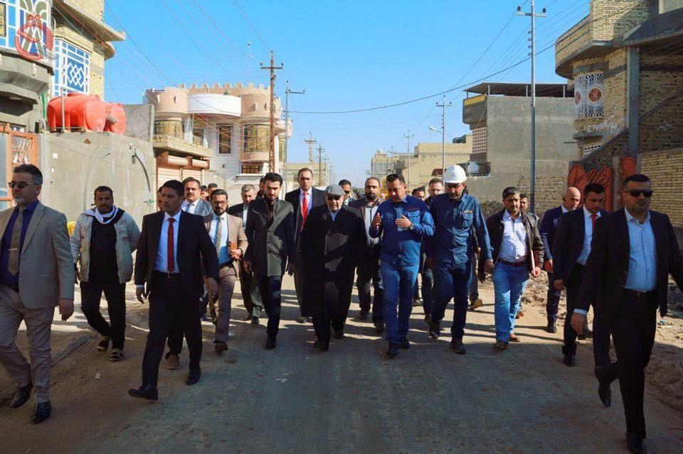 Abdul-Mahdi inspect services projects in the Shatt al-Arab district 12500
