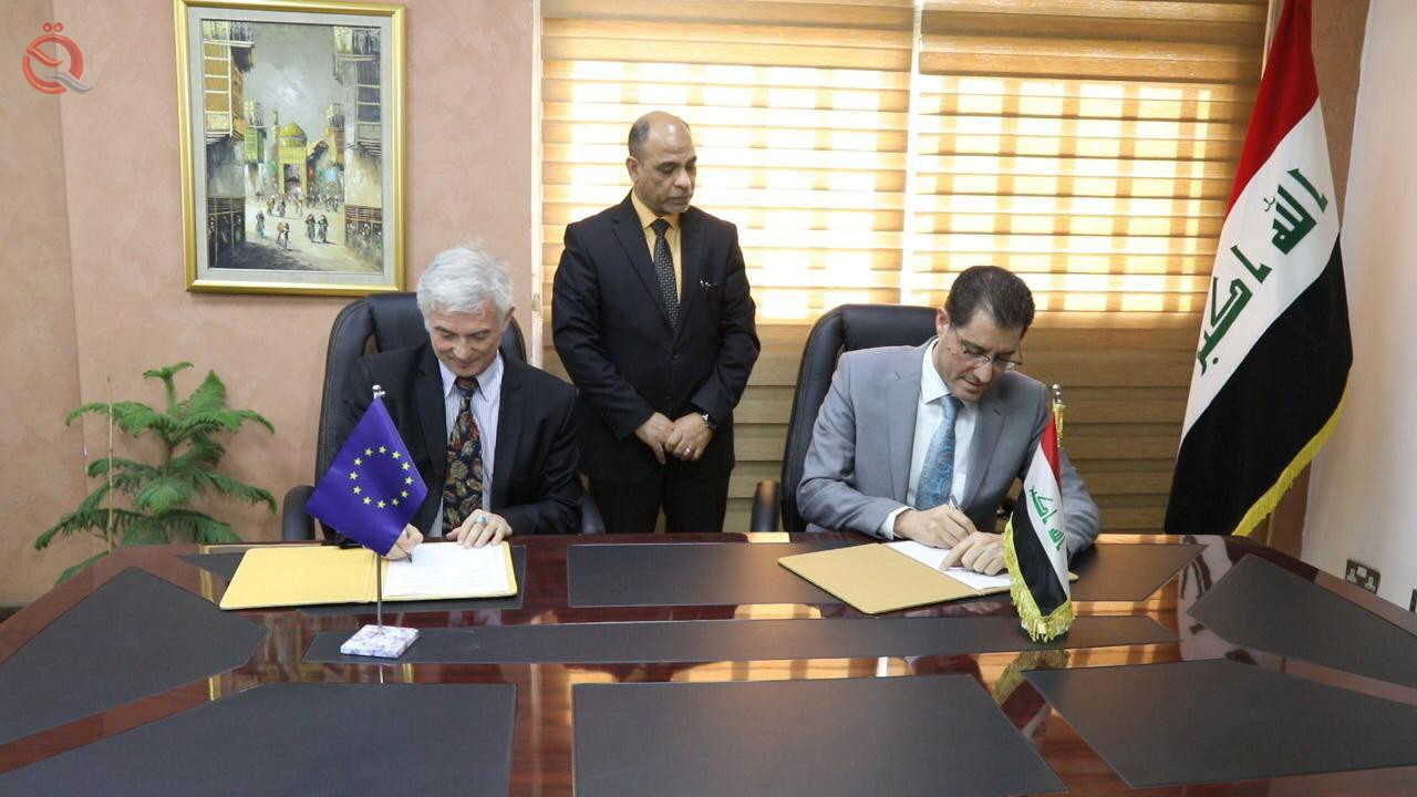 Iraq and the European Union sign an agreement to implement projects worth 41.5 million euros in Basra and Nineveh 13078