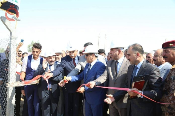 Minister of Industry inaugurates the first asphalt coating plant in Anbar 16657