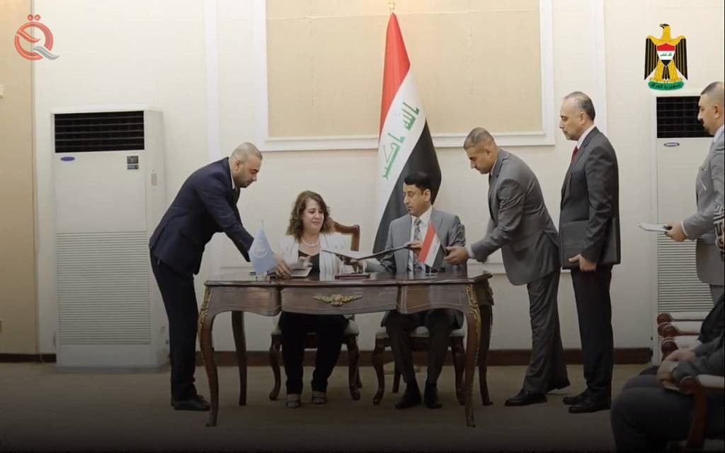 Iraq and the United Nations sign an agreement to support reconstruction projects 16911