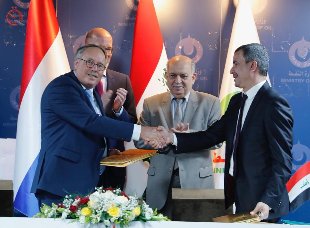 Iraq signs a memorandum of principles for the establishment of the island industrial territorial waters with a Dutch company 17105
