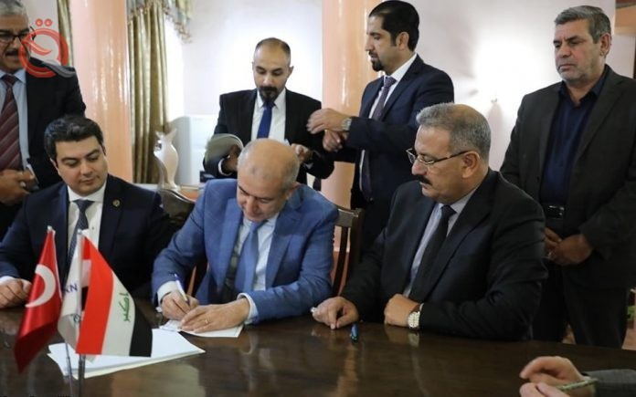 Industry signs two contracts with a Turkish company to invest two cement plants in Nineveh and Anbar 17974