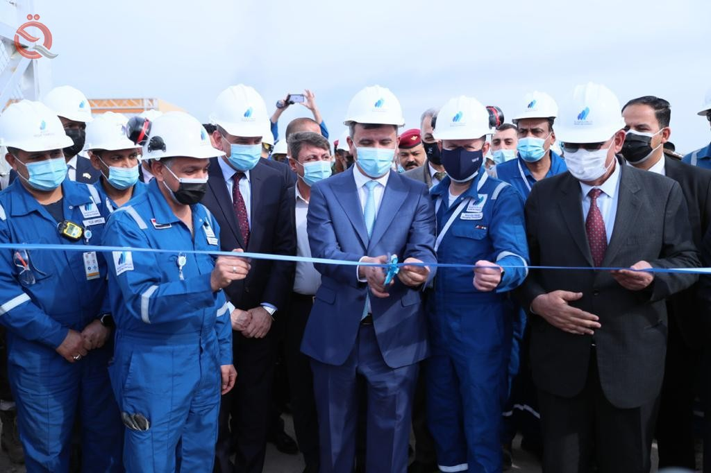 The Minister of Oil inaugurates the fifth gas compressor station in the North Rumaila field 26456