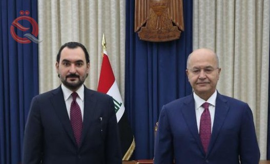 The President of the Republic, Barham Salih, during his meeting with the Chairman of the Board of Directors of the Development Bank, Ziad Khalaf, stresses the support of the private banking sector 28728